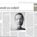Illustration dans Le Monde pour un article sur Nelly Arcan