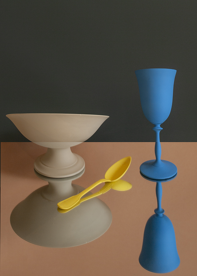 painted still life with spoon